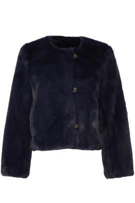 Cropped Faux Fur Coat by J.Crew