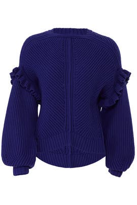 Cashfeel Ruffle Sweater by Jason Wu