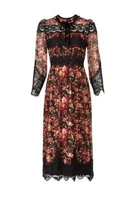 Laced Floral Dress by The Kooples