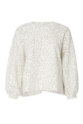 Leopard Rosie Sweatshirt by Rebecca Minkoff