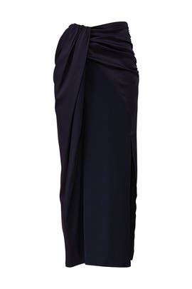 Navy Gathered Skirt by Sid Neigum