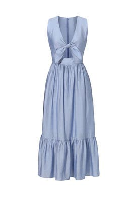 Blue Tie Maxi Dress by Shoshanna