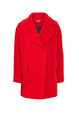 Tomato Ruby Coat by Trina Turk
