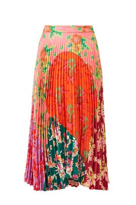 Floral Pleated Clara Skirt by DELFI Collective