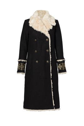 Black Shearling Coat by Free People