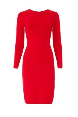 Red Gia Knit Sheath by John + Jenn