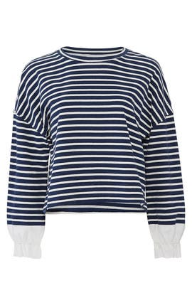 Striped Cuff Sweatshirt by KINLY