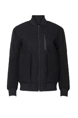 Black Roam Far Reversible Wool Bomber by Lululemon