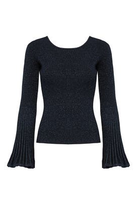 Navy Bella Sweater by Milly