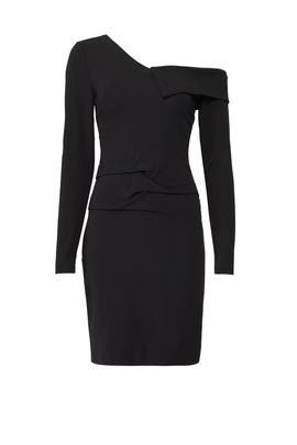 Structured One Shoulder Dress by Nicole Miller