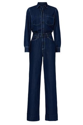 All In One Rigid Denim Jumpsuit by rag & bone JEAN