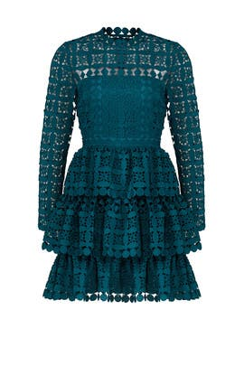 Teal Full Skirt Dress by Slate & Willow