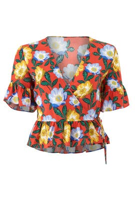 Reunion Wrap Top by The Fifth Label