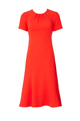 e0169a83d13 Diane von Furstenberg Orange Rose Dress