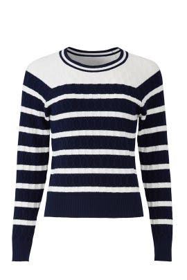 Stripe Textured Stitch Sweater by Milly