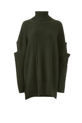 Oversized Roll Neck Sweater by Osman