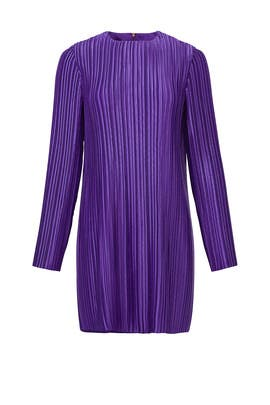 Violet Plisse Mini Dress by Tibi