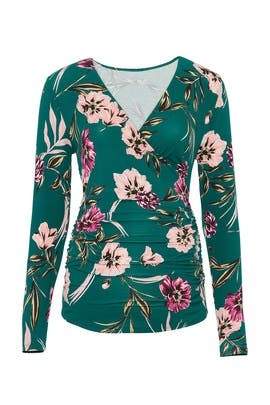 Floral Leah Maternity Top by Yumi Kim