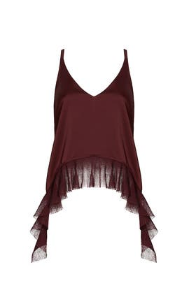 Maroon Manette Top by Elizabeth and James
