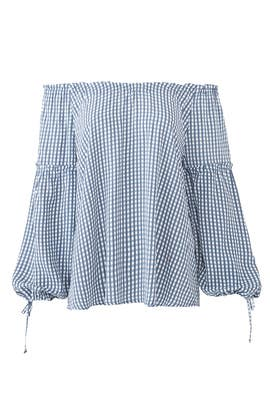 Blue Plaid Bobby Blouse by Flynn Skye