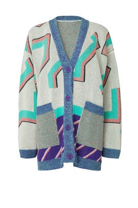 Printed Oversized Cardigan by MM6 Maison Margiela
