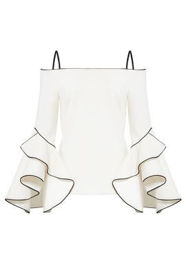 White Marcia Top by nha khanh