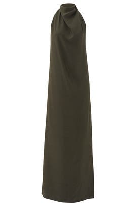 Olive Green Chignon Gown by Nina Ricci