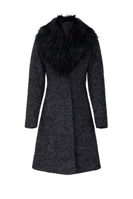 Charcoal Flat Boucle Coat by NVLT
