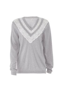 Lace Combo Pullover by Rebecca Taylor
