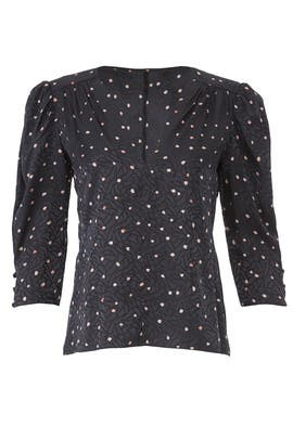 Painted Dot Top by Rebecca Taylor