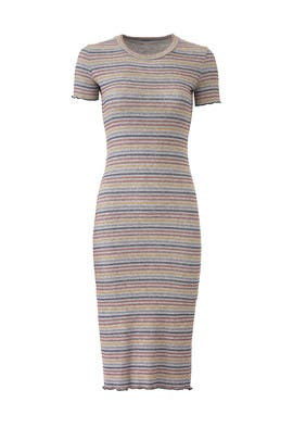 Striped T-Shirt Dress by Sundry