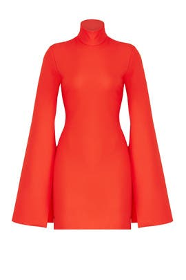 Orange Franklin Dress by Solace London