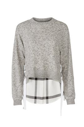 Charcoal Duo Sweatshirt by Derek Lam 10 Crosby