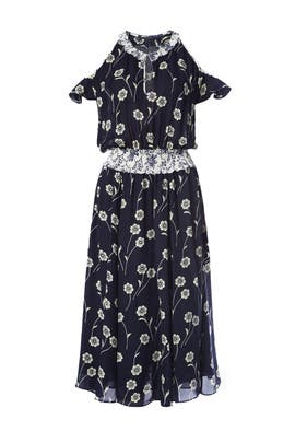 Midnight Cold Shoulder Dress by Derek Lam 10 Crosby