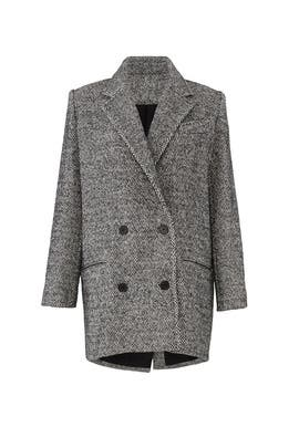 Herringbone Animal Coat by Iro