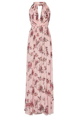 Blush Floral Halter Gown by Marchesa Notte Bridesmaid