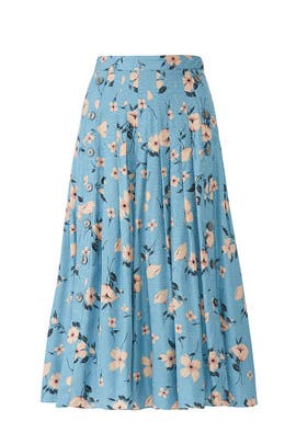 Daniella Floral Jacquard Skirt by Rebecca Taylor