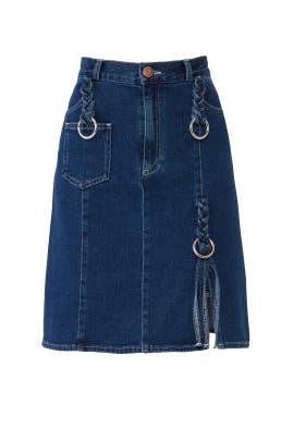 Braided Denim Skirt by See by Chloe