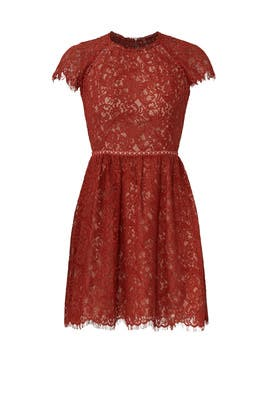 Rust Lace Dress by STYLESTALKER