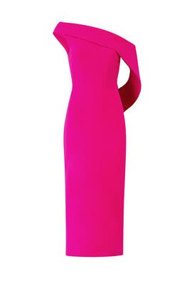 Fuchsia Drape Dress by Christian Siriano