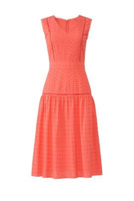 Coral Eyelet Midi Dress by Draper James