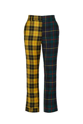Plaid Upside Down Trousers by MONSE