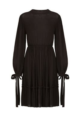 Tie Detail Woven Dress by Moon River
