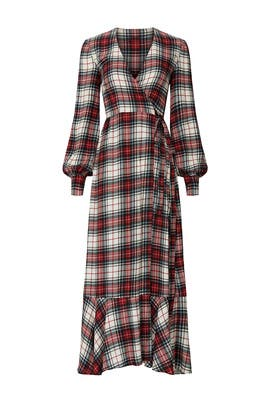 Plaid Salal Wrap Dress by Petersyn