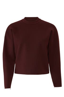 Sculpted Zip Sleeve Pullover by Tibi
