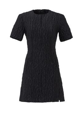 Black Robe Gauffre Dress by Carven