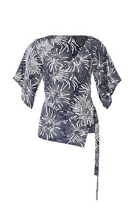 Floral Side Wrap Shirt by Diane von Furstenberg