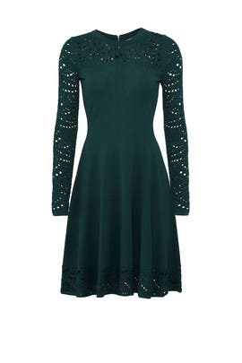 Lace Pointelle Flare Dress by Milly