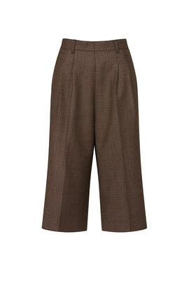 Brown Wool Culottes by Maison Margiela