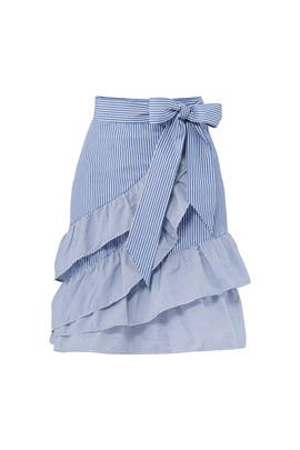 Striped Ruffle Lambert Skirt by Parker